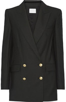 Pierre Balmain Double-breasted Twill Blazer - Black