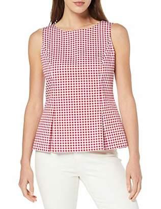 Daniel Hechter Women's Peplum Blouse Red 340, 6 (Size: 32)
