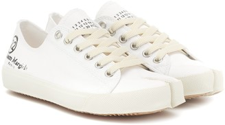 Maison Margiela Tabi logo canvas low-top sneakers