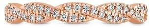 Paige Hayley for Hearts on Fire 18K Rose Gold Harley Go Boldly Braided Power Band with Diamonds & Pink Sapphire