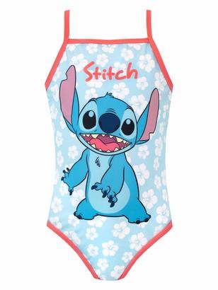 Disney Girls Lilo & Stitch Swimsuit Blue Age 4 to 5 Years