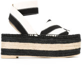 Stella McCartney flatform espadrille sandals - women - Raffia/Polyester/rubber - 36