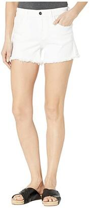 Joe's Jeans Ozzie 4 Shorts Fray Hem in White (White) Women's Shorts
