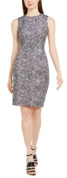 Calvin Klein Sleeveless Python-Print Sheath Dress