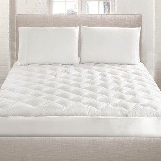 Botanical Comfort Bamboo Extra Thick Mattress Pad with Fitted Skirt - Extra Plush Cooling Topper - Hypoallergenic King