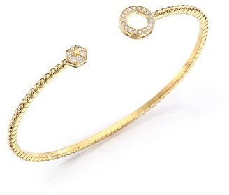 Marli Astrid Diamond & 18K Yellow Gold Circle Cuff Bracelet