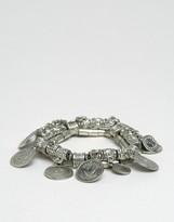 Sacred Hawk Coin Charm Bracelet