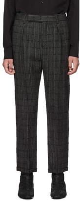 Saint Laurent Black and Grey Tweed Trousers