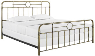 Hewson King Size Bronze Metal Pipe Bed