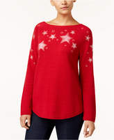 Style&Co. Style & Co Petite Embroidered Star-Pattern Sweater, Created for Macy's