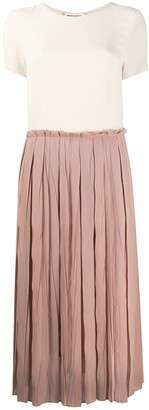 Semi-Couture Crinkle Pleated Skirt