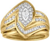 MODERN BRIDE Womens 1 CT. T.W. Genuine Diamond 14K Gold Bridal Set