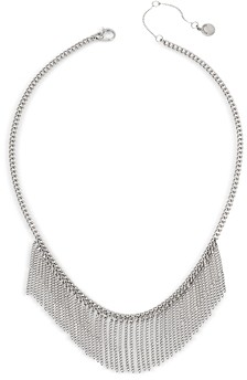 AllSaints Fringed Chain Necklace, 16