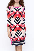 Tribal Print Knee Dress