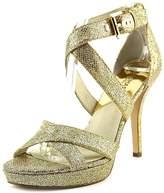 MICHAEL Michael Kors Evie Platform Women US 7.5 Gold Sandals