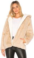 525 America Vegan Fur Reversible Jacket in Beige. - size M (also in S,XS)