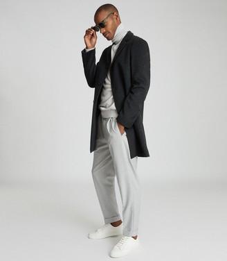 Reiss Gable - Wool-blend Epsom Overcoat in Charcoal