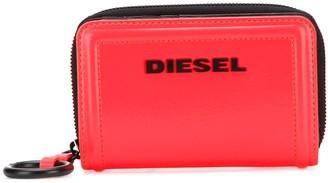 Diesel Logo Zipped Wallet
