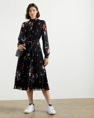 Ted Baker Sandalwood Pleated Midi Dress