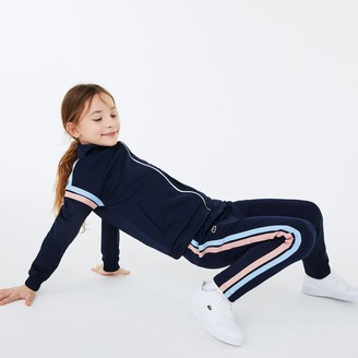 Lacoste Girls' Striped Side Band Jogging Pants