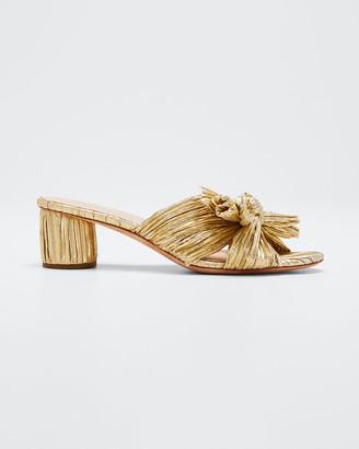 Loeffler Randall Emilia Pleated Knot Slide Sandals
