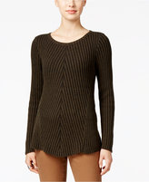 Style&Co. Style & Co. Petite Ribbed Crew-Neck Sweater, Only at Macy's