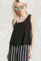 Forever 21 FOREVER 21+ Buttoned-Back Top