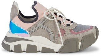 Salvatore Ferragamo Cimbrazoomi Colorblock Sneakers