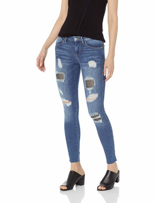 GUESS Women's Crystal Fishnet Sexy Curve Jean