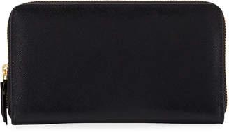 Neiman Marcus Saffiano Zip-Around Continental Wallet