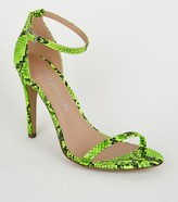 New Look Faux Snake Barely There Stilettos