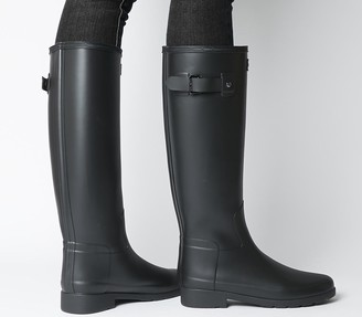 Hunter Refined Wellies Black Mono