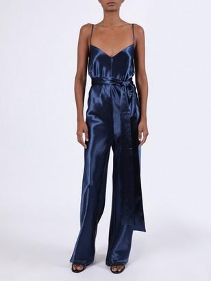Galvan Metallic Blue Jumpsuit