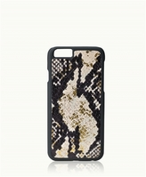 GiGi New York iPhone 6/6s Hard-Shell Case Gold Wash Embossed Python