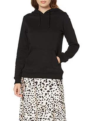 Build Your Brand Women's Ladies Merch Hoody Jacket, (Black 00007), 4X-Large
