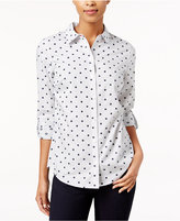 Charter Club Dot-Print Shirt, Only at Macy's