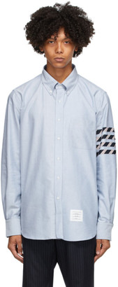 Thom Browne Blue Oxford 4-Bar Straight Fit Shirt