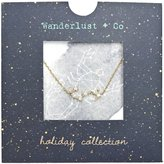 Wanderlust + Co Scorpio Cosmic Necklace in