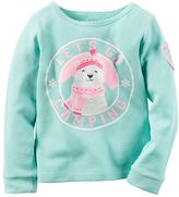 Carter's Baby Girl Graphic Thermal Tee