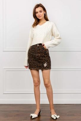 J.ING Pounce Leopard Mini Skirt