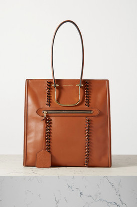 Alexander McQueen The Tall Story Braided Leather Tote - Tan