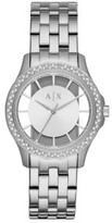 Armani Exchange Lady Hampton Silver Watch