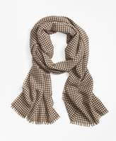 Brooks Brothers Cashmere Houndstooth Scarf