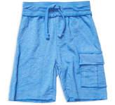 Mish Mish Mish-Mish Distressed Cotton Cargo Shorts - Bright Blue, Size m-6