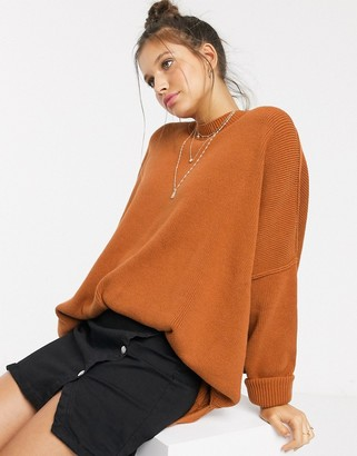 Free People Easy Street relaxed jumper-Copper