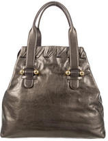 Roberto Cavalli Metallic Leather Tote