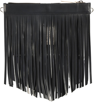 Leigh Ann Barnes Gamechanger Classic Fringe Clear Zip Bag, Black