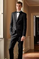 Next Black Textured Skinny Fit Suit Trousers