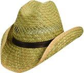 Dorfman Pacific Unisex Rush Straw 3.5 Inch Shapeable Brim Western Cowboy Hat