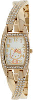 Hello Kitty Gold-Tone Crystal Crisscross Watch